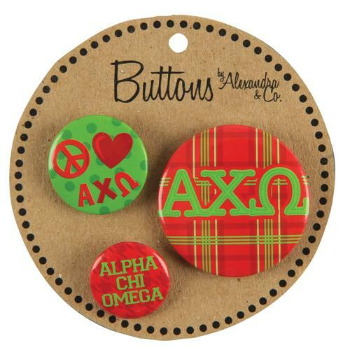 Alpha Chi Omega Button 3 pack