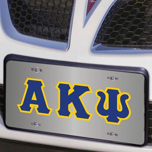 Alpha Kappa Psi Lettered License Cover