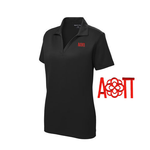 DISCOUNT-Alpha Omicron Pi Infinity Rose Polo