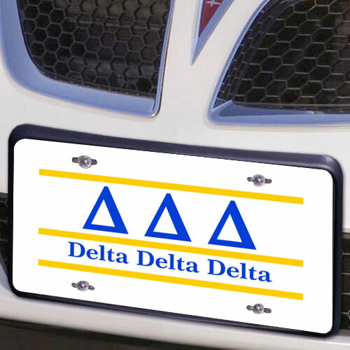 Delta Delta Delta Lettered Lines License Cover