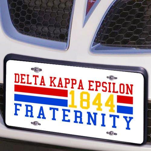Delta Kappa Epsilon Year License Plate Cover
