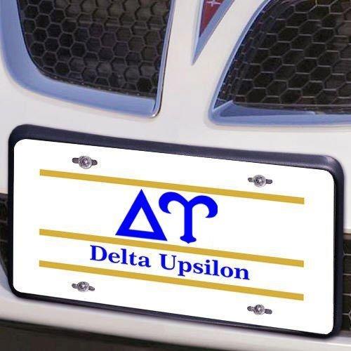 Delta Upsilon Lettered Lines License Cover