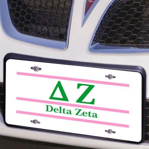 Delta Zeta Lettered Lines License Cover