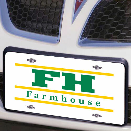 FarmHouse Fraternity Lettered Lines License Cover
