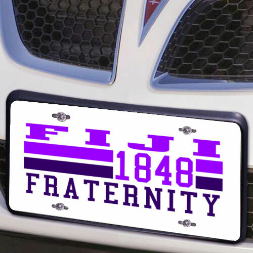FIJI Year License Plate Cover