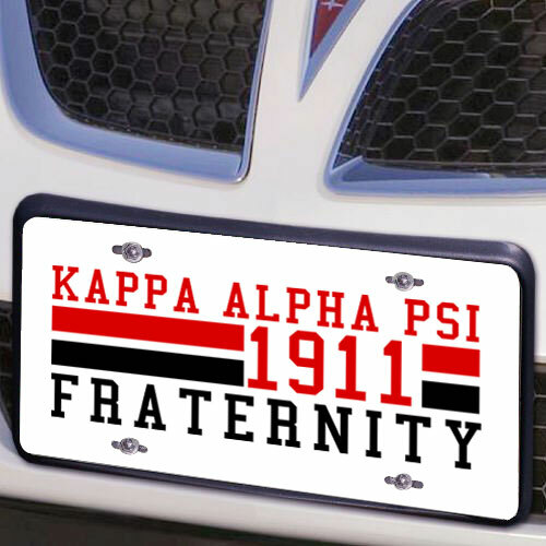 Kappa Alpha Psi Year License Plate Cover