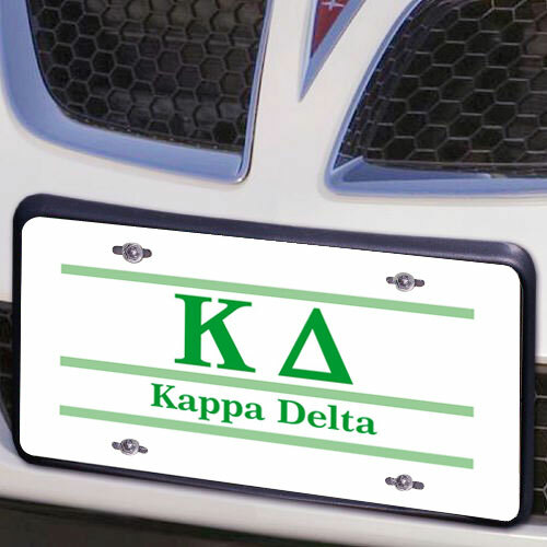 Kappa Delta Lettered Lines License Cover