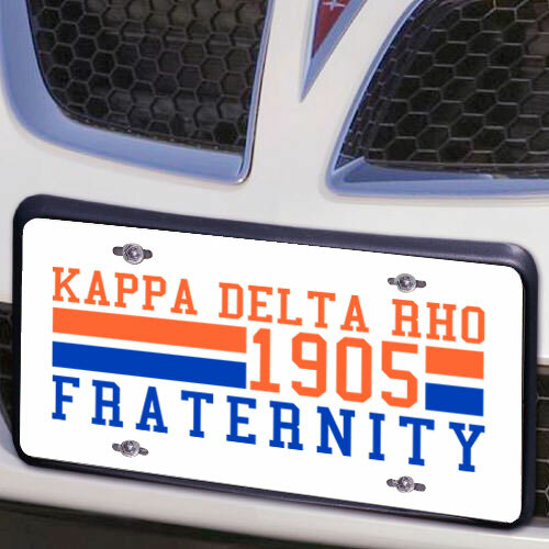 Kappa Delta Rho Year License Plate Cover