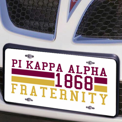 Pi Kappa Alpha Year License Plate Cover