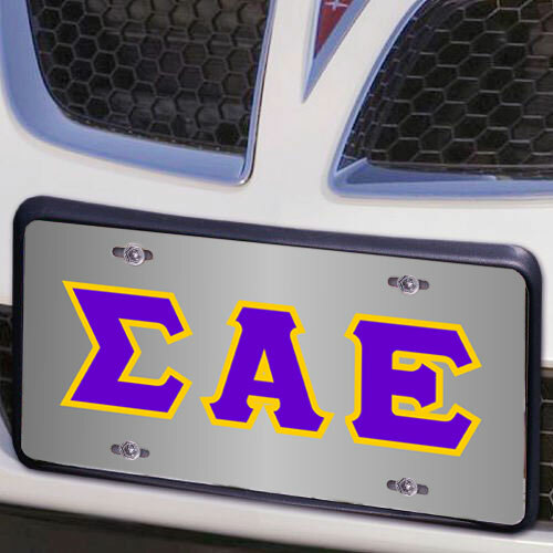Sigma Alpha Epsilon Lettered License Cover