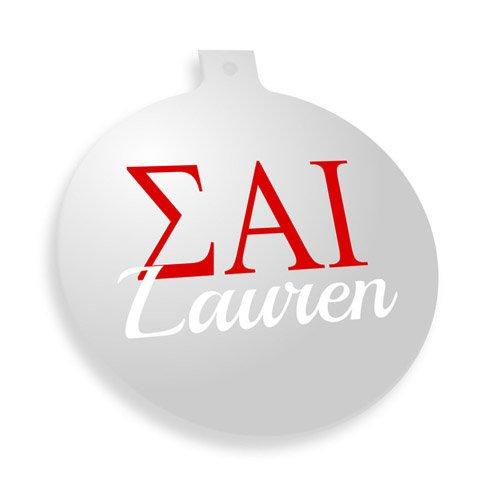Sigma Alpha Iota Personalized Christmas Ornaments