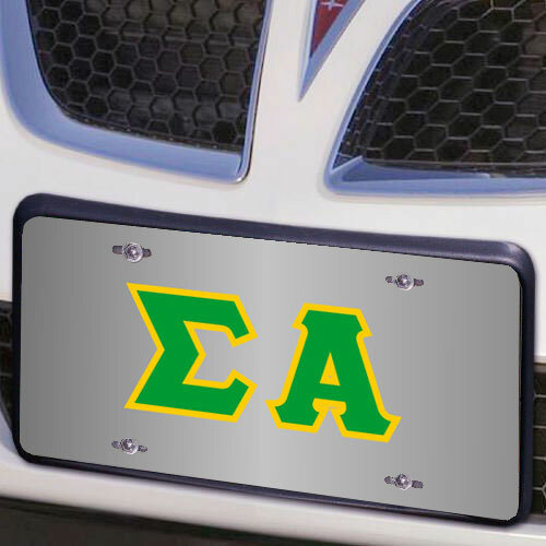 Sigma Alpha Lettered License Cover