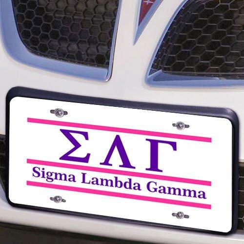 Sigma Lambda Gamma Lettered Lines License Cover