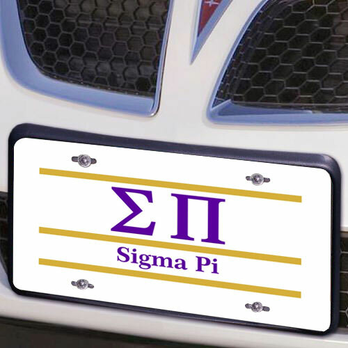 Sigma Pi Lettered Lines License Cover