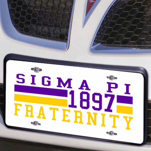 Sigma Pi Year License Plate Cover