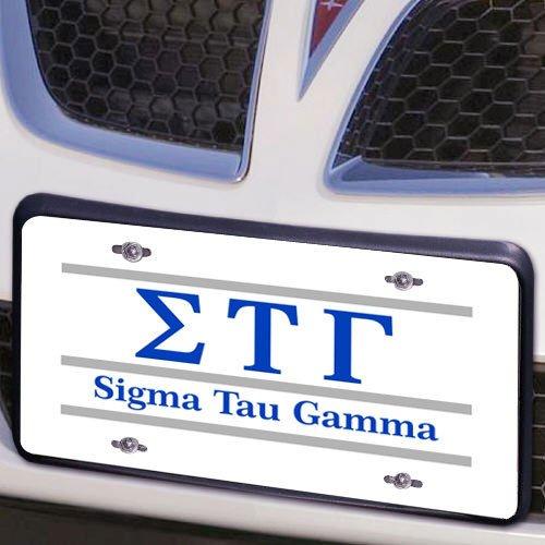 Sigma Tau Gamma Lettered Lines License Cover
