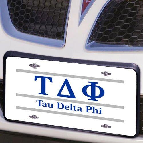 Tau Delta Phi Lettered Lines License Cover