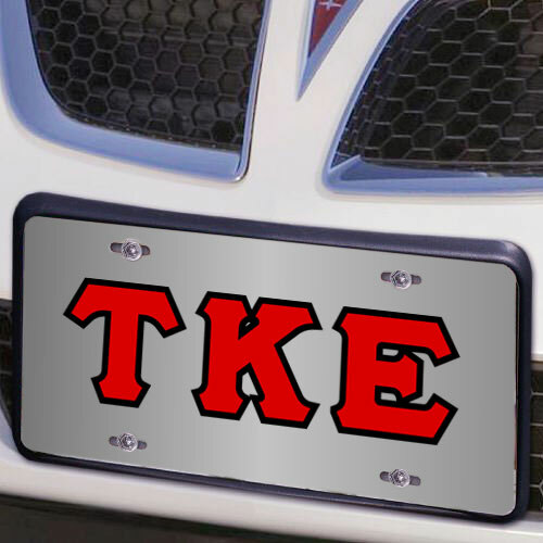 Tau Kappa Epsilon Lettered License Cover
