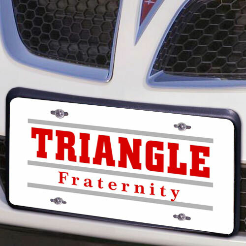 Triangle Lettered Lines License Cover