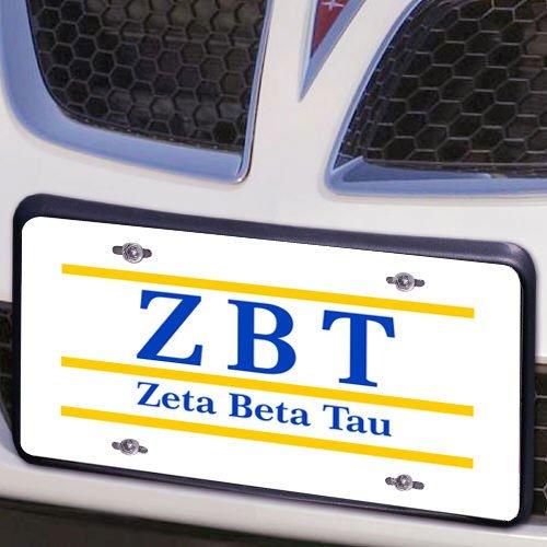 Zeta Beta Tau Lettered Lines License Cover