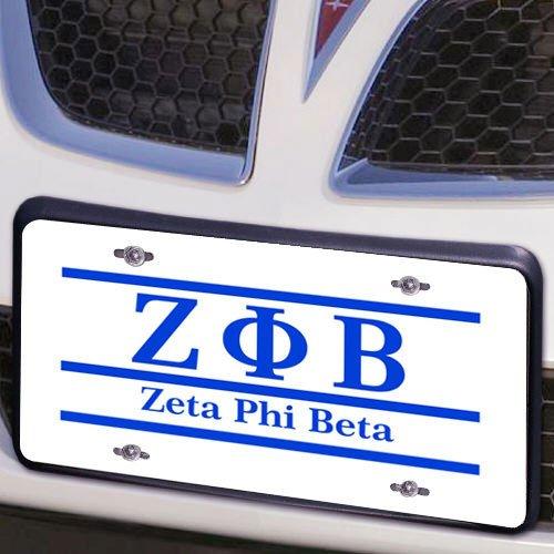 Zeta Phi Beta Lettered Lines License Cover