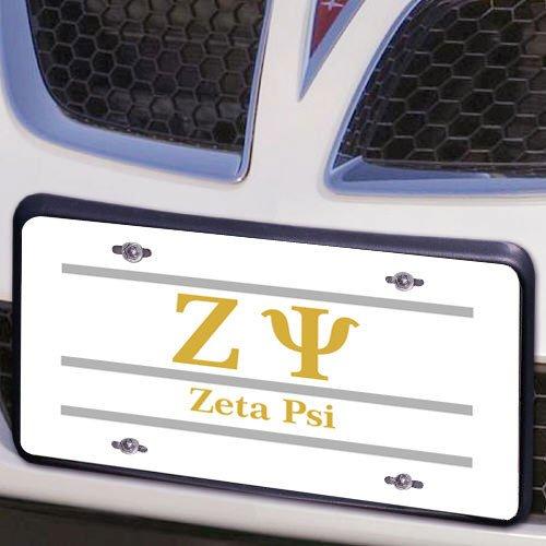 Zeta Psi Lettered Lines License Cover