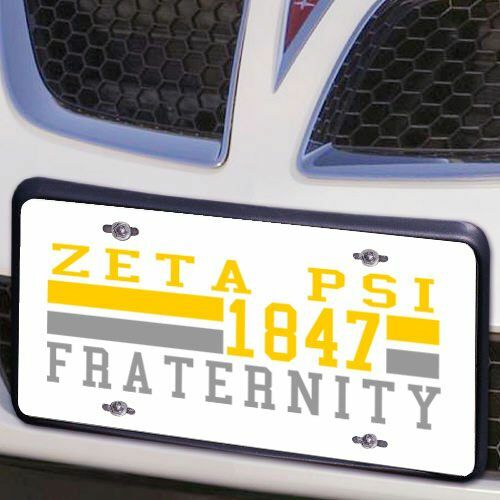 Zeta Psi Year License Plate Cover