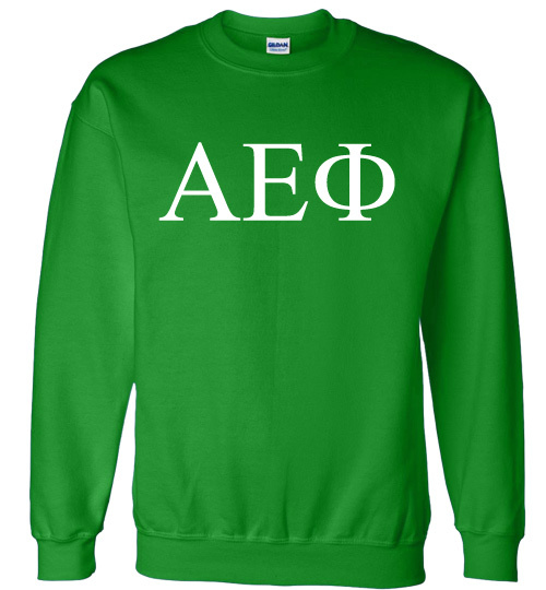 Alpha Epsilon Phi Lettered World Famous Greek Crewneck