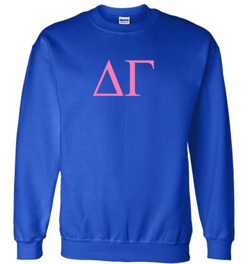 Delta Gamma Lettered World Famous Greek Crewneck