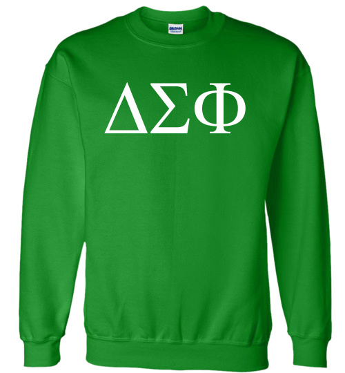 Delta Sigma Phi Lettered World Famous $19.95 Greek Crewneck