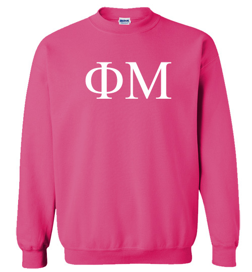 Phi Mu Lettered World Famous Greek Crewneck
