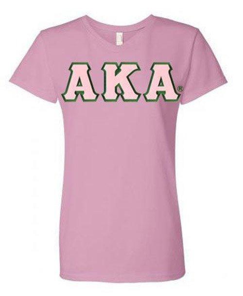 DISCOUNT-Alpha Kappa Alpha Lettered V-Neck Tee