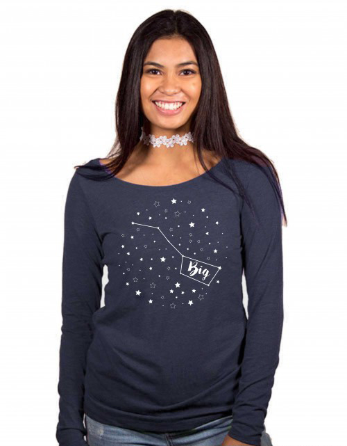 Big Dipper / Little Dipper Fitted Long-Sleeve Scoop Tee