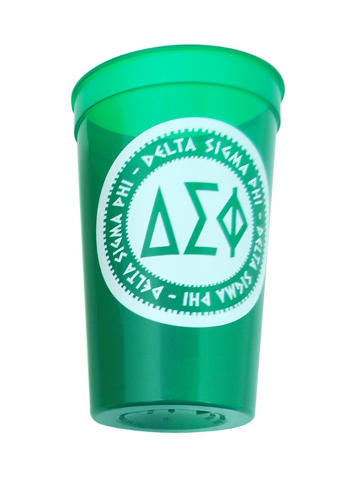 Set of 10 - Delta Sigma Phi Big Ancient Greek Letter Stadium Cup - Clearance!!!
