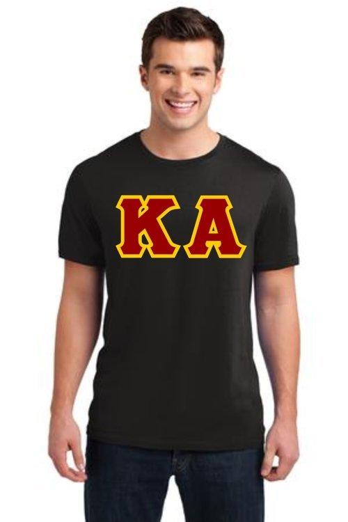 Jumbo Greek Twill Lettered T-Shirt