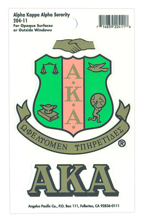 Alpha Kappa Alpha Crest - Shield Decals
