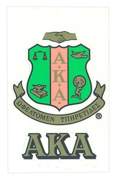 Alpha Kappa Alpha Crest - Shield Decals
