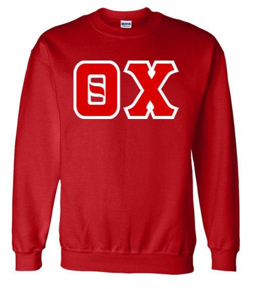 Jumbo Twill Theta Chi Crewneck Sweatshirt