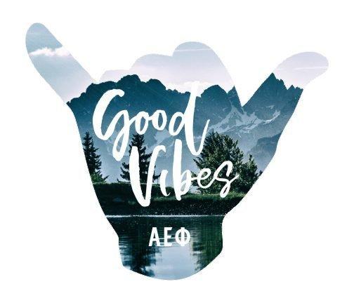 Alpha Epsilon Phi Good Vibes Sticker Decal
