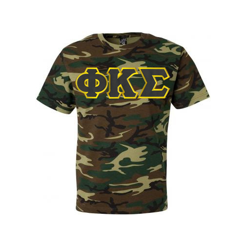 DISCOUNT- Phi Kappa Sigma Lettered Camouflage T-Shirt