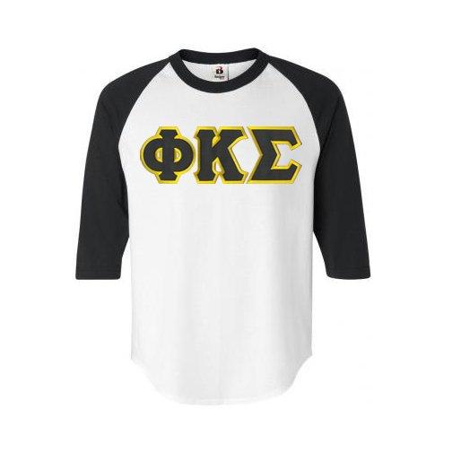 DISCOUNT- Phi Kappa Sigma Lettered Raglan T-Shirt