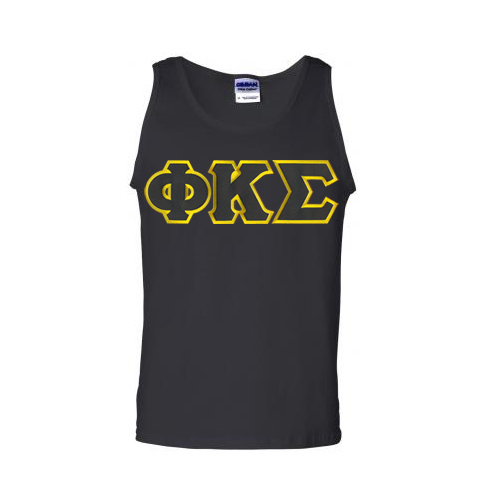 DISCOUNT- Phi Kappa Sigma Lettered Tank Top