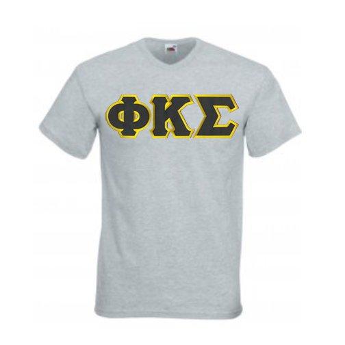 DISCOUNT- Phi Kappa Sigma Lettered V-Neck T-Shirt