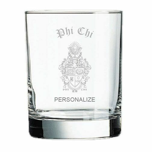 Phi Chi Old Style Glass