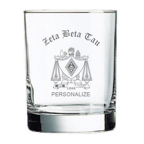 Zeta Beta Tau Old Style Glass