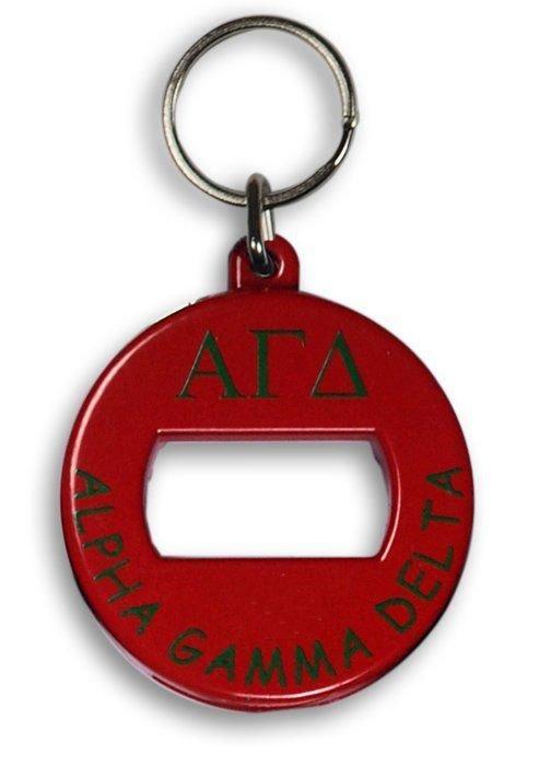 Alpha Gamma Delta BevKey Key Chain