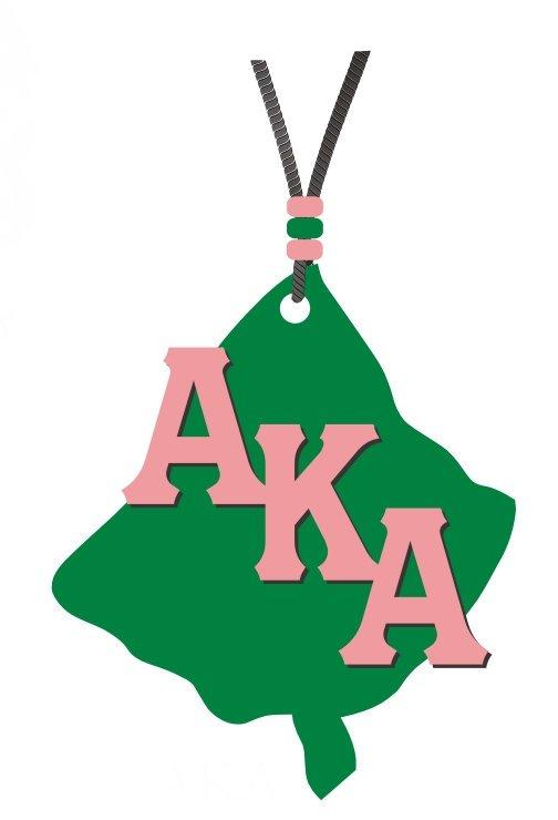Alpha Kappa Alpha Acrylic Medallion Tiki, Leaf