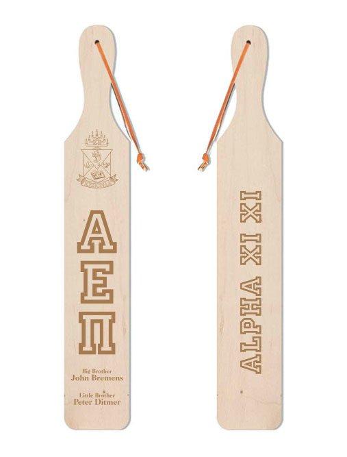 Alpha Epsilon Pi Old School Wood Greek Paddle