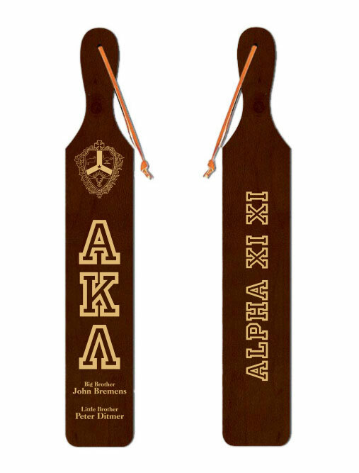 Alpha Kappa Lambda Old School Wood Greek Paddle