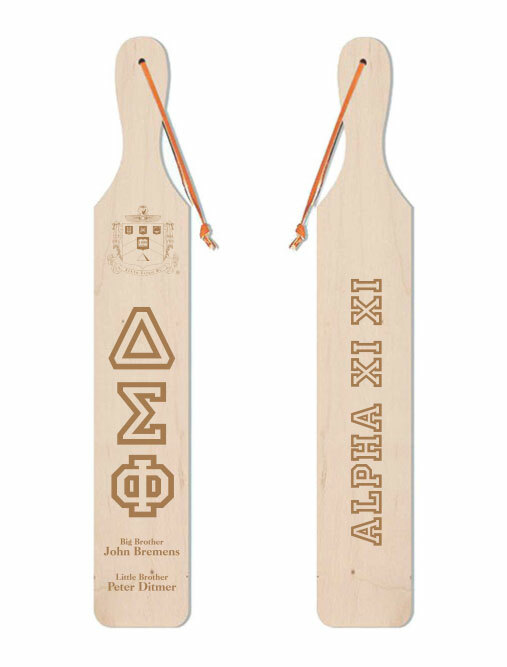 Delta Sigma Phi Old School Wood Greek Paddle